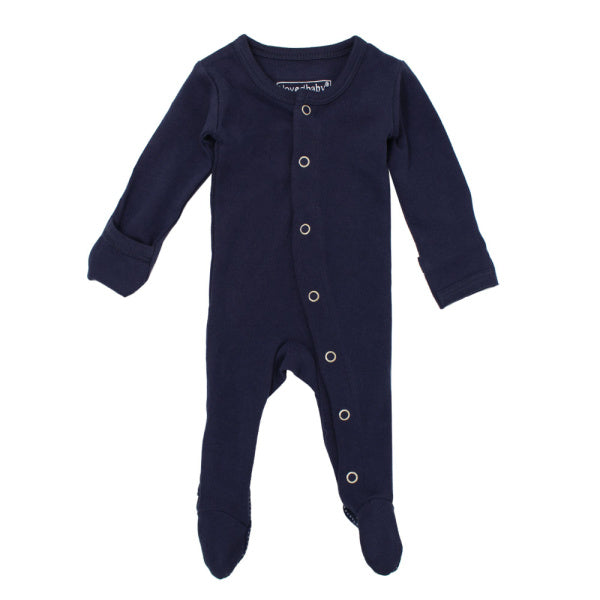 lovedbaby | Organic Footed Overall | Navy | White Fox & Co