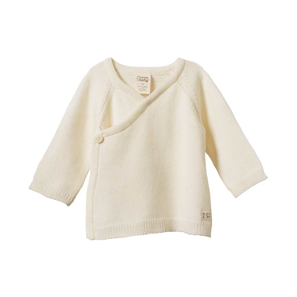 Nature Baby | Merino Knitted Cardigan | White Fox & Co