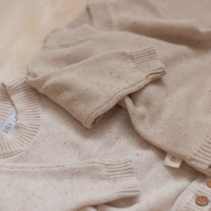 Oatmeal Fleck | Newborn | Romper | Ziggy Lou | White Fox & Co