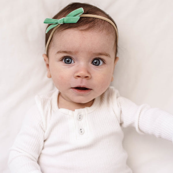 Snuggle Hunny Kids | Velvet Bow | White Fox & Co