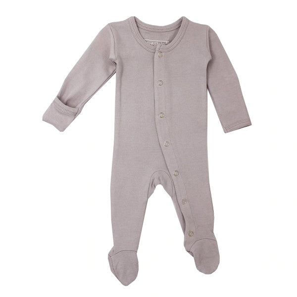 L'oved Baby | Organic Jumpsuit | Footed Overall | Light Grey | White Fox & Co