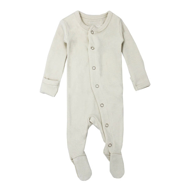 L'oved Baby | Organic Footed Overall | Stone | White Fox & Co