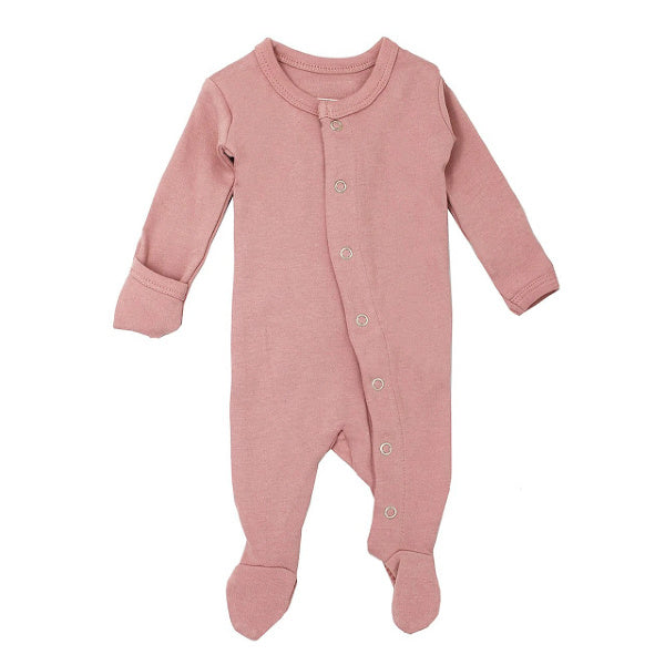 L'oved Baby | Organic Jumpsuit | Footed Overall | Mauve | White Fox & Co