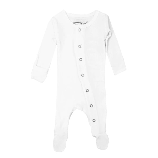 L'oved Baby | Organic Footed Overall | White | White Fox & Co