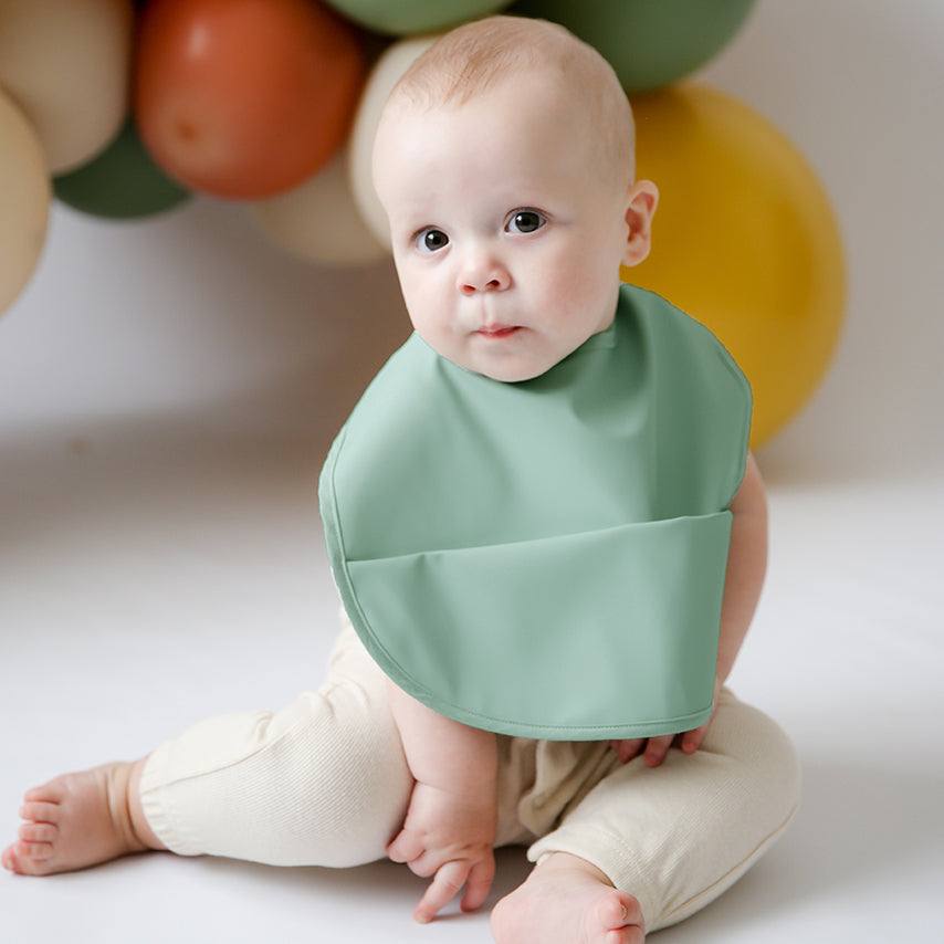 Snuggle Hunny Kids | Waterproof Bib | Sage | White Fox & Co