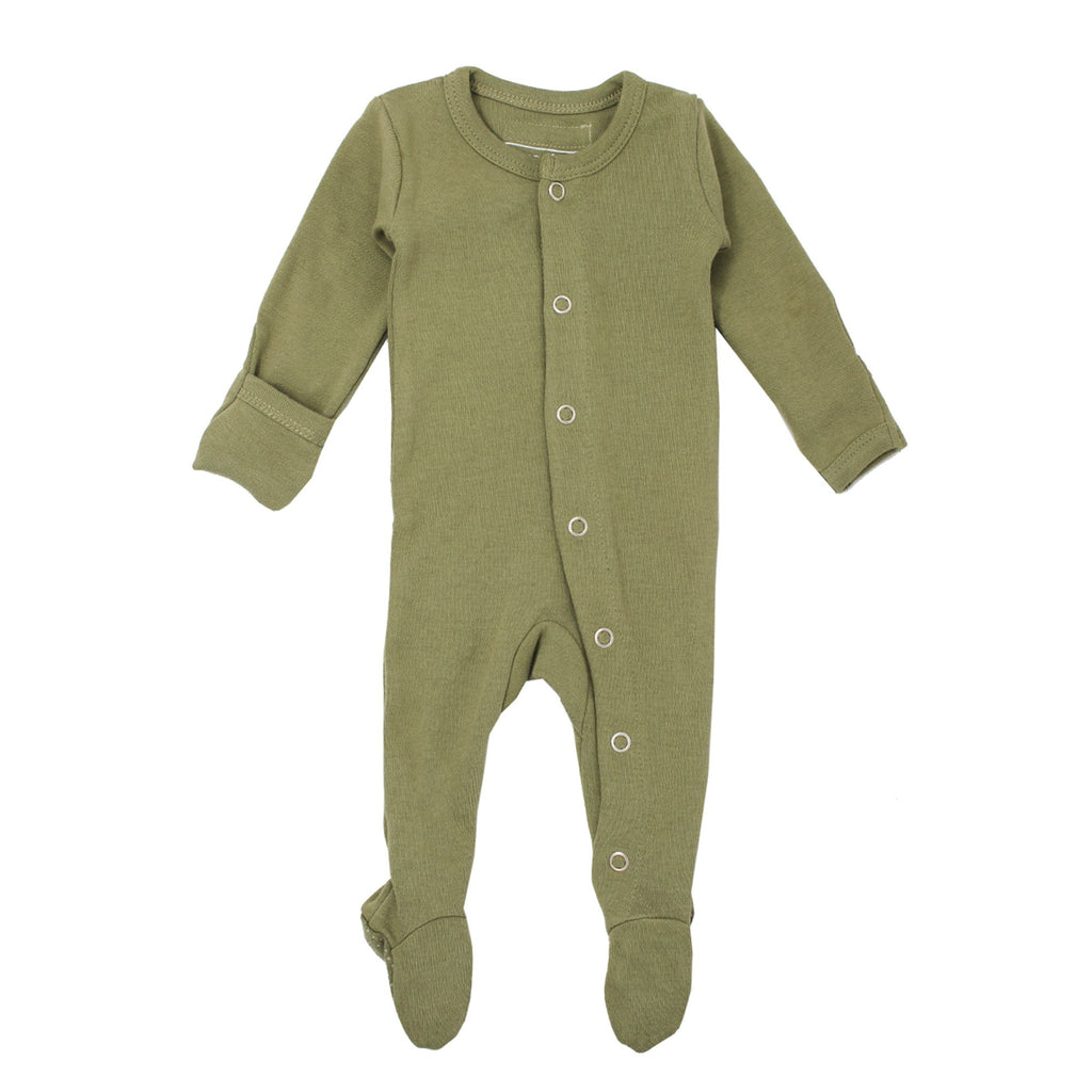 Organic Footed Overall | Sage