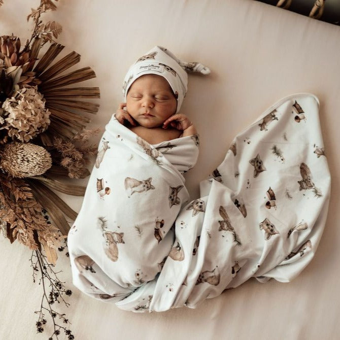Snuggle Hunny Kids | Baby Jersey Wrap | Fox | White Fox & Co
