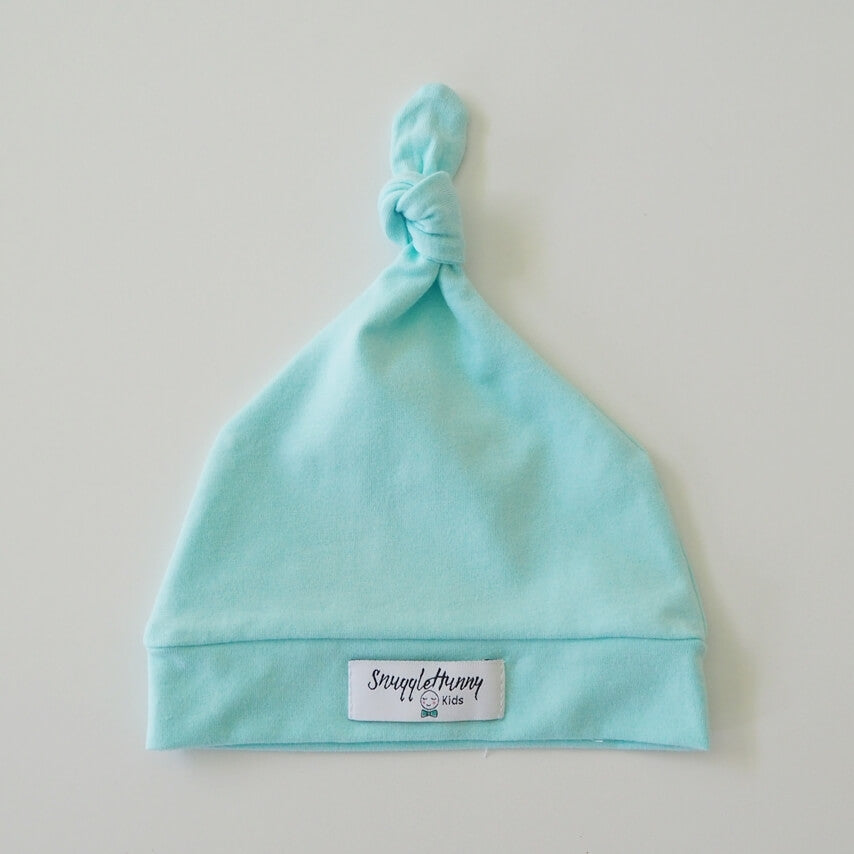 Snuggle Hunny Kids | Knotted Beanie | Spearmint | White Fox & Co