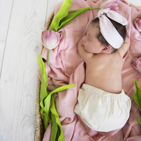 Snuggle Hunny Kids | Organic Muslin Wrap | Musk Pink | White Fox & Co