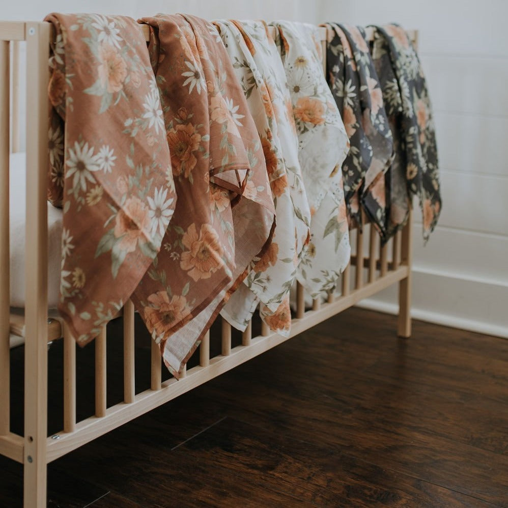 The Mini Scout | Swaddle | SPRING BLOSSOM CLAY | White Fox & Co