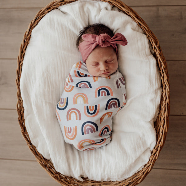 Snuggle Hunny Kids | Snuggle Swaddle | Sunset Rainbow | White Fox & Co
