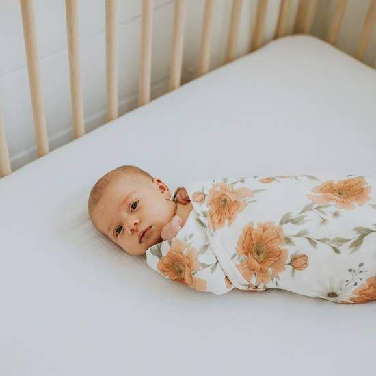 The Mini Scout | Swaddle | Peony Blooms | White | White Fox & Co