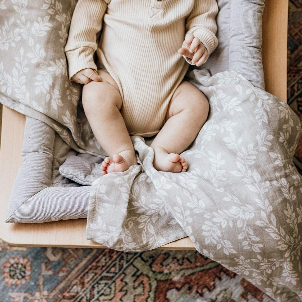 The Mini Scout | Swaddle | Leafy Sprig | White Fox & Co
