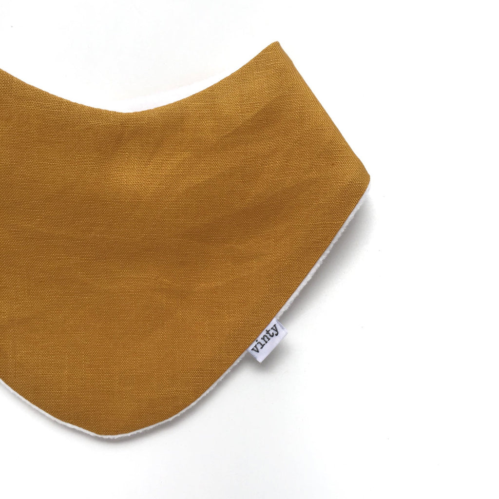 Vinty Bibs | Dribble Bib | Mustard | White Fox & Co