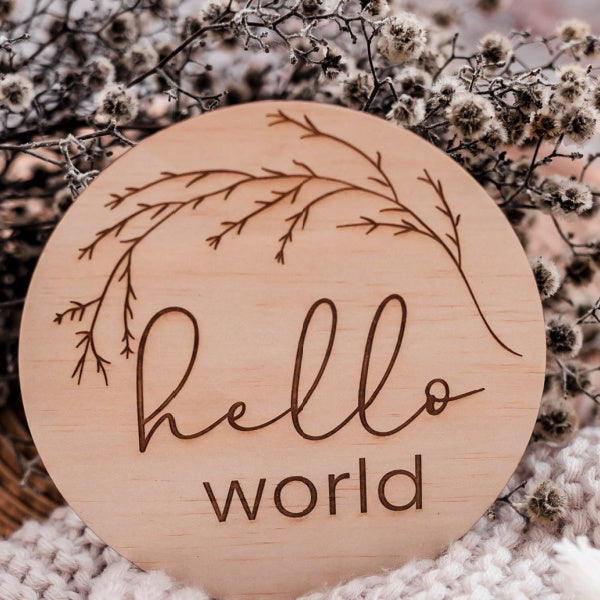 Hello Fern | Hello World | Whimsical | Disc | White Fox & Co