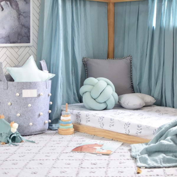 Snuggle Hunny Kids | Wild Fern Cot Sheet | White Fox & Co