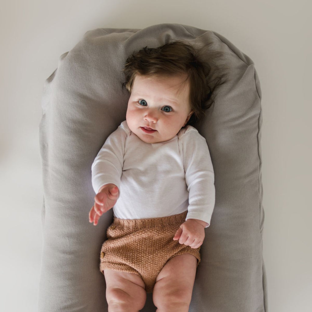 Snuggle Me Organic | Infant Lounger Bundle | Wren | White Fox & Co