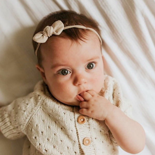 Mae + Rae | Bow Headband | Wren Almond | White Fox & Co