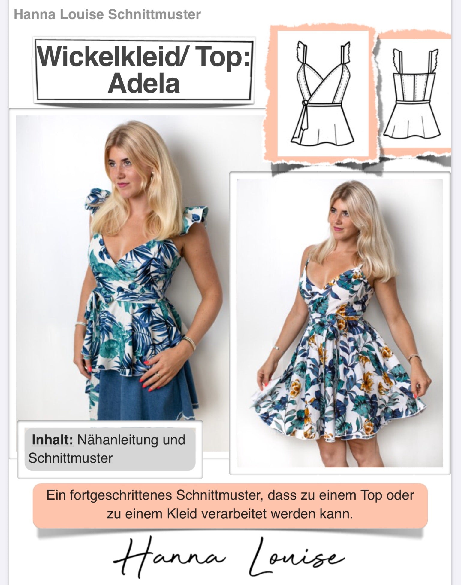 Wickelkleid/ Top #Adela