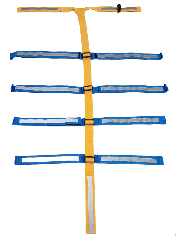 LINE2design EMS 11 Point Reflective Spineboard Immobilization Securing Straps System with Adjustable Clips - LINE2EMS - Straps