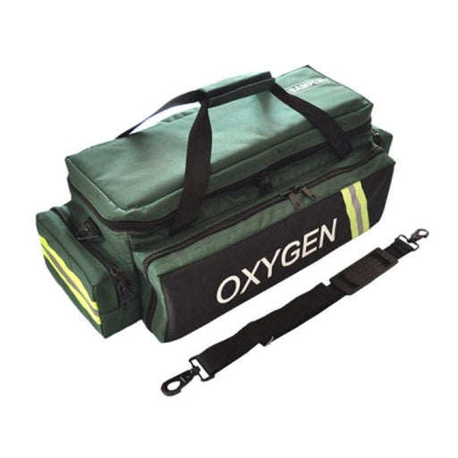 LINE2design EMS oxygen Medical Airway Management Bag with Reflective Trim, Zippered Pockets & Shoulder Straps - LINE2EMS - Oxygen Bags