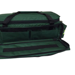 Oxygen Medical Airway Management Bag with Reflective Trim, Zippered Pockets & Shoulder Straps