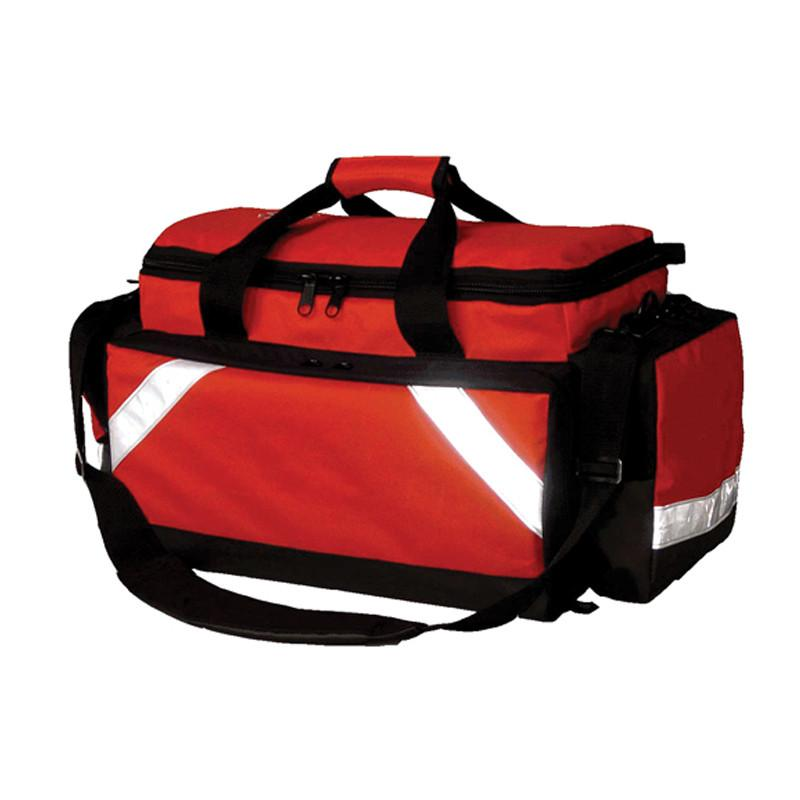 LINE2design First Aid Deluxe EMS Elite Medical Trauma Bag EMT Paramedic with Shoulder Straps - With Reflective Trim - LINE2EMS - Trauma Bags