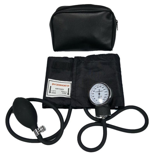 LINE2design Aneroid Thigh Blood Pressure BP Cuff Adjustable Deluxe Sphygmomanometer with Carrying Case - Black - LINE2EMS - Blood Pressure Cuffs