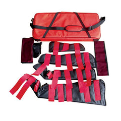 LINE2design Heavy Duty Emergency Fracture Immobilization Arm and Leg Care Splints with Carrying Case - Red