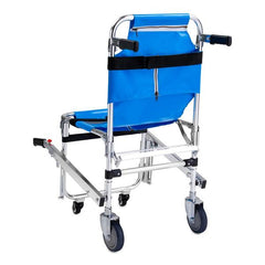 LINE2design Evacuation 4 Wheel EMS Stair Chair Lift with Patient Restraints Straps & Grip Handles