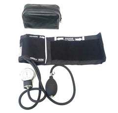 LINE2design Deluxe Blood Pressure (BP) Cuffs Aneroid Sphygmomanometer with Carrying Case - Black