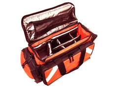 LINE2design First Aid Deluxe EMS Elite Medical Trauma Bag EMT Paramedic with Shoulder Straps - With Reflective Trim