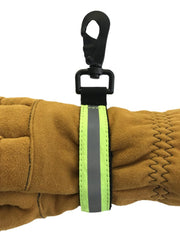 ULTIMATE HEAVY DUTY GLOVESTRAP WITH REFLECTIVE TRIM AND HEAVY DUTY METAL HOOK