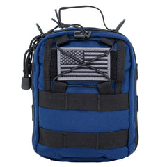 LINE2design MOLLE Pouch, Emergency Medical, Trauma Stop Bleeding Bag, Gunshot Trauma Stop Bleeding Bag for First Aid (IFAK), Utility Pouch, includes USA Patch - Navy