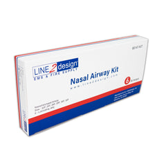 LINE2design Nasopharyngeal (Nasal) Airway Kit, 6 pcs NPA, Airway Management Kit