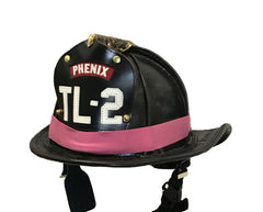 Pink Rubber Firefighter Helmet Band
