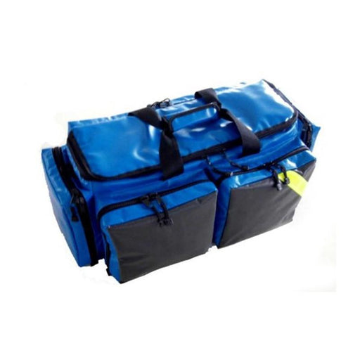 LINE2design First Aid Deluxe EMS Oxygen Medical Bag, All Impervious Fully Padded with Shoulder Straps & Yellow Trim - Royal Blue - LINE2EMS - Oxygen Bags