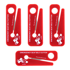 LINE2design Emergency Seat Belt Cutters Rescue Lifesaver, EMS Tools - Red 4-Pack