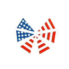 USA FIRE HELMET FLAG SET 6-TRIANGLES