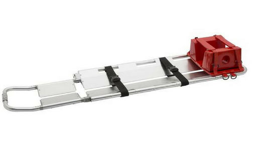LINE2design Emergency Medical Scoop Stretcher, Adjustable Length with Two Black Safety Straps - LINE2EMS - Stretchers