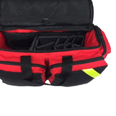 First Aid Deluxe Medical Oxygen Bag - Fully Padded with Shoulder Straps and Yellow Trim