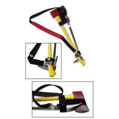 Iron Strap with a Padded Shoulder and Heavy Duty Attachements-Red