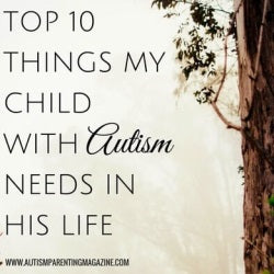 Top 10 Things My Child with Autism Needs in his Life