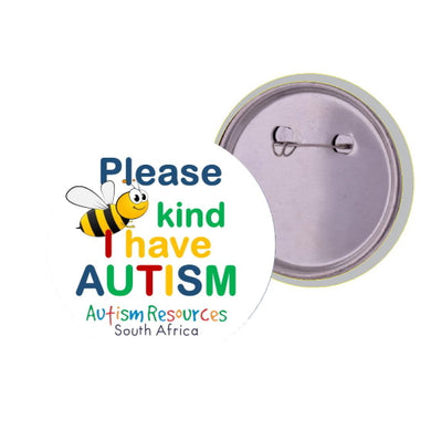 Lapel Badge (Please be kind) - Autism Resources South Africa