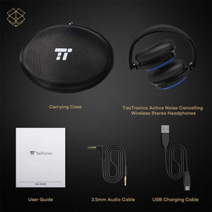 Taotronics BH22 Active Noise Cancelling Wireless Bluetooth Headphones - Autism Resources South Africa