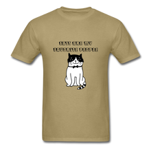 Load image into Gallery viewer, Cats are my Favorite People T-Shirt - khaki