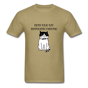 Cats are my Favorite People T-Shirt - khaki