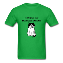 Load image into Gallery viewer, Cats are my Favorite People T-Shirt - bright green