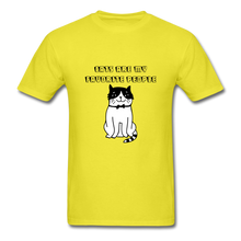 Load image into Gallery viewer, Cats are my Favorite People T-Shirt - yellow