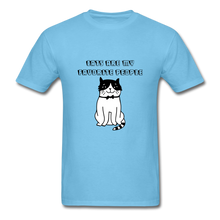 Load image into Gallery viewer, Cats are my Favorite People T-Shirt - aquatic blue